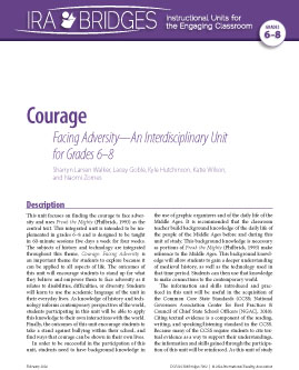 Courage - Facing Adversity-An Interdisciplinary Unit for Grades 6-8