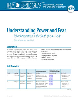 Understanding Power and Fear - School Integration in the South (1954-1964)