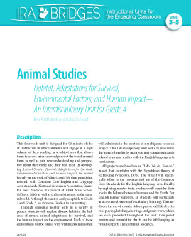 Animal Studies - Habitat, Adaptations for Survival, Environmental Factors, and Human Impact-An Interdisciplinary Unit for Grade 4