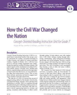 How the Civil War Changed the Nation - Concept-Oriented Reading Instruction Unit for Grade 7
