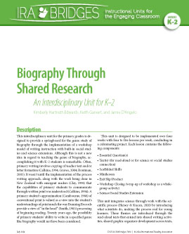 Biography Through Shared Research - An Interdisciplinary Unit for K-2