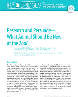 Research and Persuade-What Animal Should Be New at the Zoo?