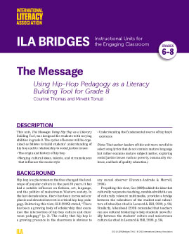 The Message - Using Hip-Hop Pedagogy as a Literacy Building Tool for Grade 8