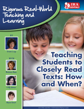 Teaching Students to Closely Read Texts