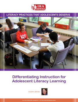 Differentiating Instruction for Adolescent Literacy Learning