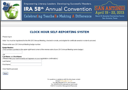 how to obtain conference clock hours or a certificate of attendance