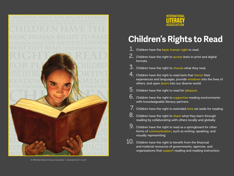 Children's Rights to Read poster